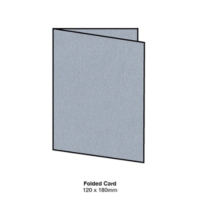 Curious Metallic 120x180 Folded Card 250gsm Galvanised