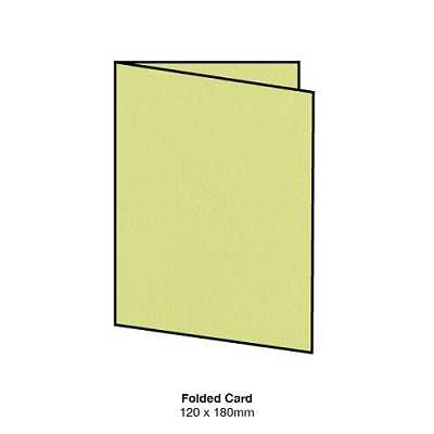 Curious Metallic 120x180 Folded Card 300gsm Lime