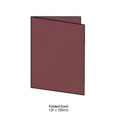 Heirloom 120x180 Folded Card 300gsm Deep Rose