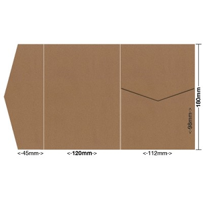 Buffalo Board 120x180 Pocket Style A 283gsm Natural Brown