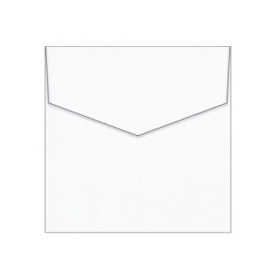 Glamour Puss 130x130 iflap Envelope 120gsm Diamond White Pack 10