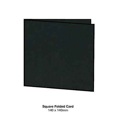 Bloom 140x140 Folded Card 300gsm Ebony