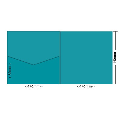 Bloom 140x140 Pocket Style E 270gsm Teal