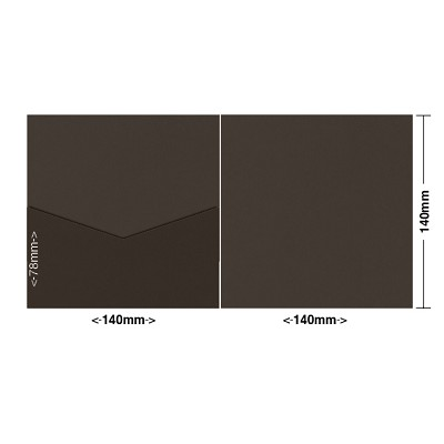 Gmund Colors 140x140 Pocket Style E 300gsm Chocolate-37