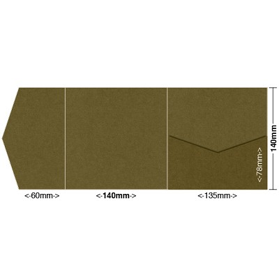 Gmund Colors 140x140 Pocket Style A 300gsm Army-88