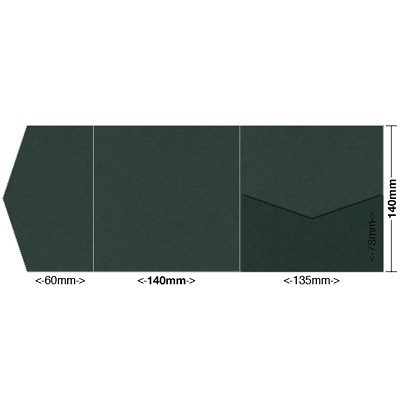 Gmund Colors 140x140 Pocket Style A 300gsm Hunter Green-60