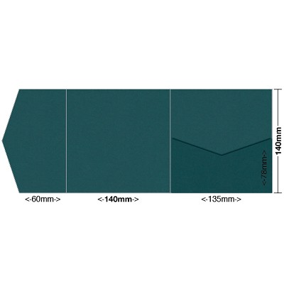 Gmund Colors 140x140 Pocket Style A 300gsm Sea Green-91
