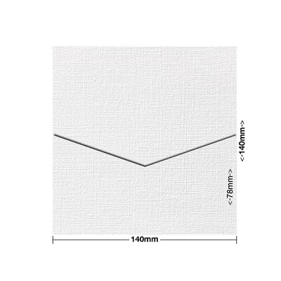 Coco Linen 140x140 Pocket Style D 170gsm Blanc