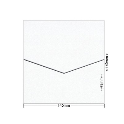 Glamour Puss 140x140 Pocket Style D 250gsm Diamond White