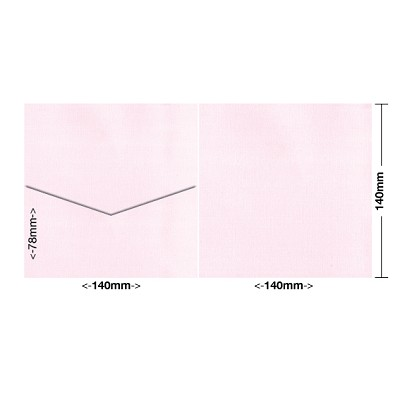 Coco Linen 140x140 Pocket Style E 170gsm Petite Pink
