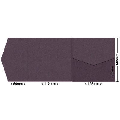Eco Grande 140x140 Pocket Style A 308gsm Mulberry