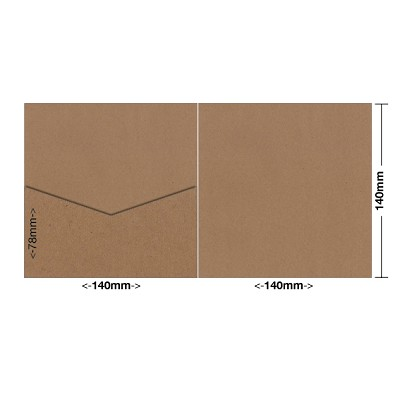 Buffalo Board 140x140 Pocket Style E 283gsm Natural Brown
