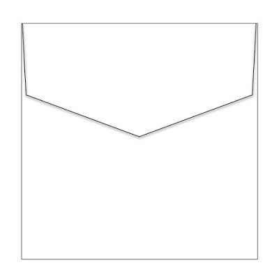 Crane Lettra 150x150 iflap Envelope 120gsm Fluoro White Pack 50 (***SECONDS***)