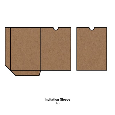 Buffalo Board A6 Sleeve 283gsm Natural Brown