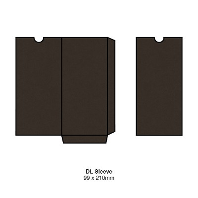 Gmund Colors DL Sleeve 300gsm Chocolate-37