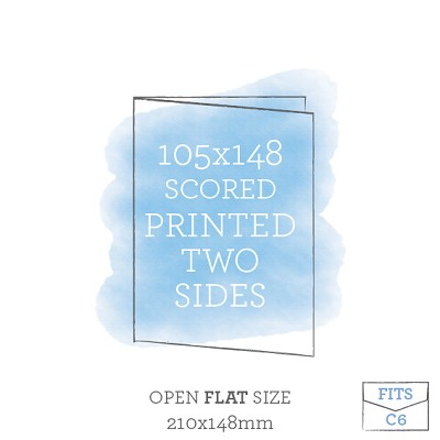 105x148 Printed Scored Card Double Sided