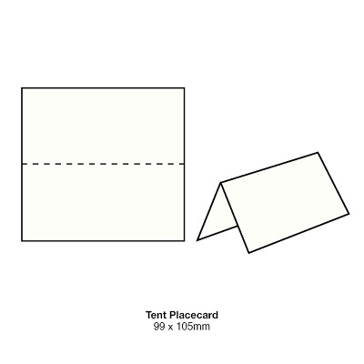 Boston Tent Placecard 200gsm Classic White