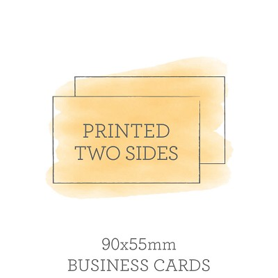 90x55mm double sided business cards reheart Choice Image