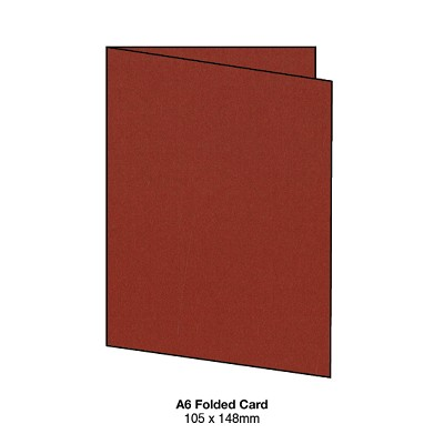 Eco Grande A6 Folded Card 308gsm Rouge