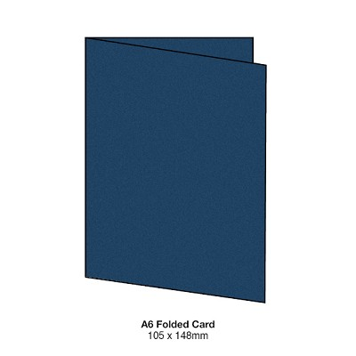 Gmund Colors A6 Folded Card 300gsm Midnight Blue-59