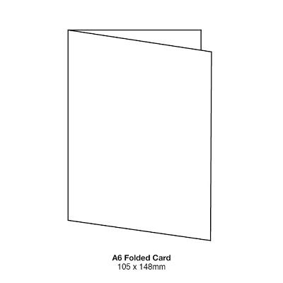Marshmallow A6 Folded Card 261gsm Crisp White