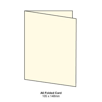 Marshmallow A6 Folded Card 261gsm Warm Ivory
