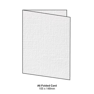 Coco Linen A5 Folded Card 170gsm Blanc