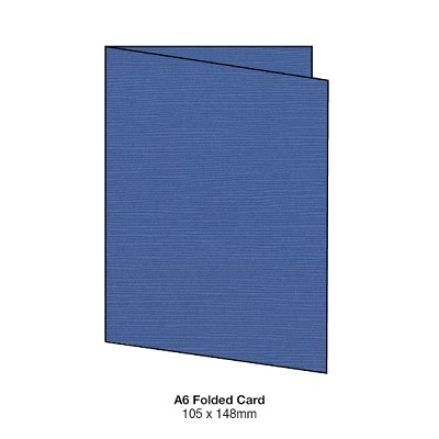 Zsa Zsa A6 Folded Card 198gsm Blueberry