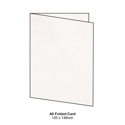 Coco Linen A5 Folded Card 170gsm Ivoire