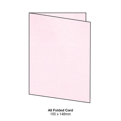 Coco Linen A5 Folded Card 170gsm Petite Pink