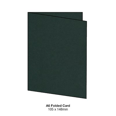 Gmund Colors A6 Folded Card 300gsm Hunter Green-60