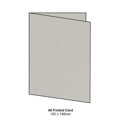Gmund Colors A6 Folded Card 300gsm Stone-85