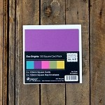 Ipaper 130x130mm Square Card Pack Eco Brights Pack 5