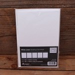 Ipaper 130x190mm Card Pack Linen White Pack 5