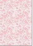 Designer Metallic A4 Paper 120gsm French Lace Strawberry