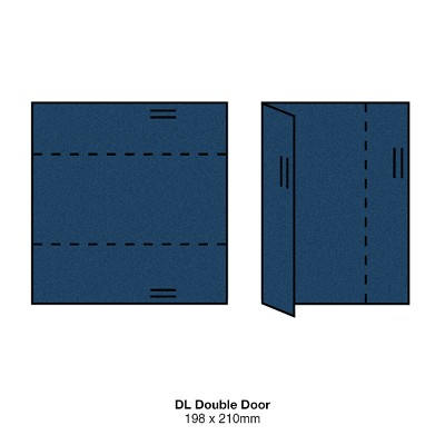 Gmund Colors DL Double Door 300gsm Midnight Blue-59