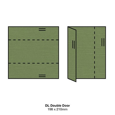 Zsa Zsa DL Double Door 198gsm Algae