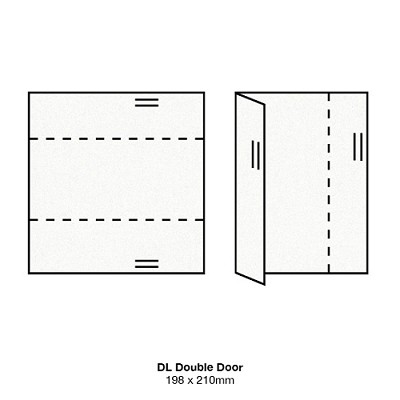 Curious Metallic DL Double Door 250gsm Ice Gold