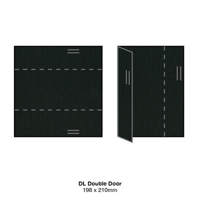Coco Linen DL Double Door 170gsm Noir