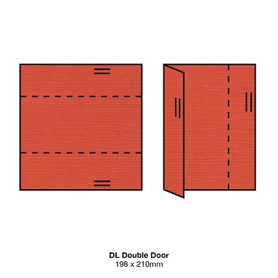 Zsa Zsa DL Double Door 198gsm Poppy