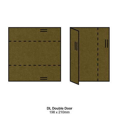 Gmund Colors DL Double Door 300gsm Army-88