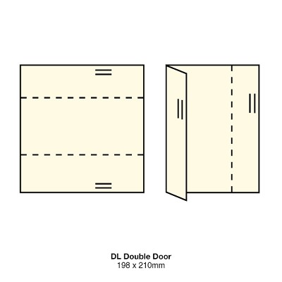 Versa Vellum DL Double Door 297gsm Natural