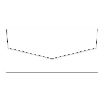 Crane Lettra DL iflap Envelope 120gsm Fluoro White (*DISCONTINUED - LIMITED STOCK*)