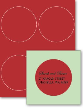 Eco Luxury 102mm Circle Label Devil Red