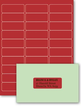 Eco Luxury 66.5x25mm Rectangle Label Devil Red