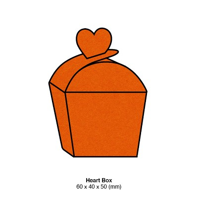Eco Grande Heart Box 308gsm Burnt Orange