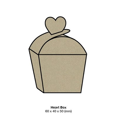 Curious Metallic Heart Box 250gsm Gold Leaf