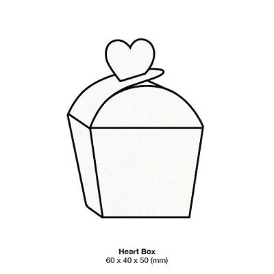 Curious Metallic Heart Box 250gsm Ice Gold