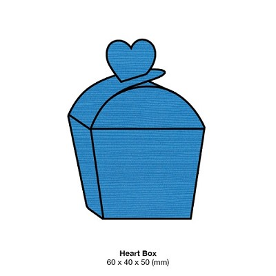 Zsa Zsa Heart Box 198gsm Cornflower