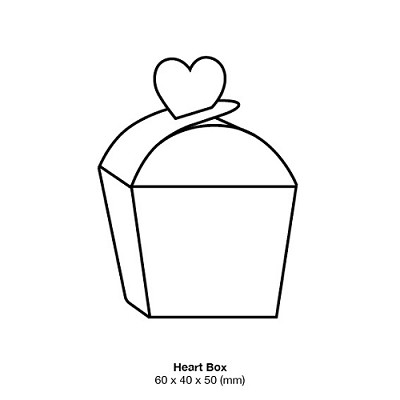 Curious Metallic Heart Box 250gsm Cryogen White